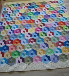 cube quilt, tumbling block quilt