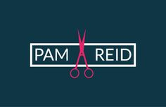 Pam Reid Hairdressers logo by Peter Mitchell.