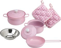 ALEX Toys Deluxe Gourmet Cooking Set -- You can find out more details at the link of the image. Pretend Play Kitchen, Play Kitchen Sets, Toy Kitchen, Kitchen Stuff, Alex Toys, Gourmet Cooking, Time Kids, Copper Kitchen, Felt Food