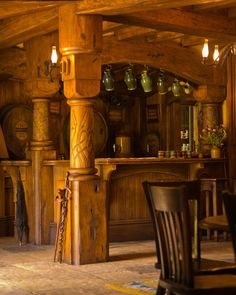 hobbithouses:    inside the green dragon inn, hobbiton