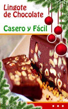 #lingote de #chocolate  Casero y Fácil. #recetas  de #Navidad