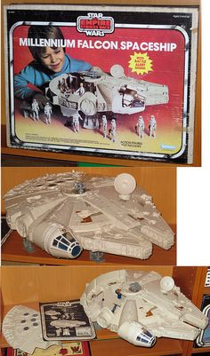 Star Wars (Vintage) - The Empire Strikes Back 1980 Millennium Falcon (Complete in Box)