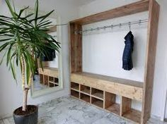 Wonderful Creations Made with Reused Wood Pallets: Wooden pallets can be used over and over again in creating outstanding projects. The best part about these wooden pallets is that they. Diy Closet, Pallet Wardrobe, Home Projects, Shelves, Diy Furniture, Home Diy, Room, Interior, Open Closet