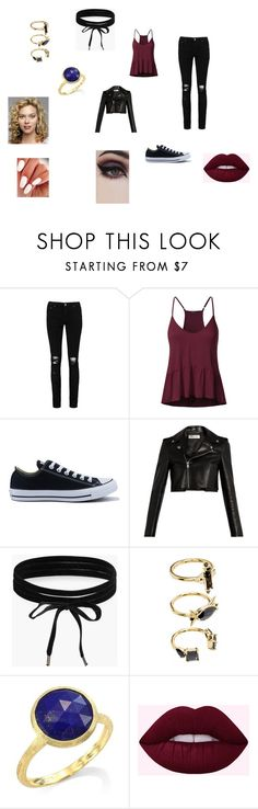 """""""Peyton Sawyer first night in Mysitc Falls"""" by singlemom on Polyvore featuring Boohoo, Converse, Yves Saint Laurent, Noir Jewelry, Marco Bicego, Burton and Concrete Minerals"""