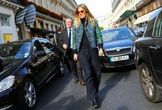 Natalie Hartley in a Louis Vuitton jacket
