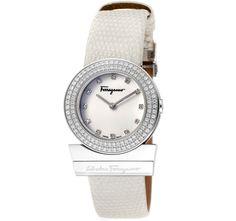 8/30/2012 Luxury Collection  $999.00  + FREE SHIPPING Salvatore Ferragamo Gancino Collection Swiss-Made Diamond Encrusted Genuine Lizard Strap Ladies' Watch