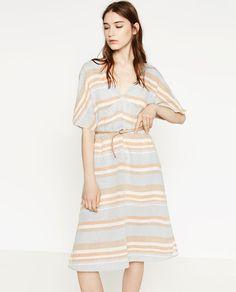 Image 5 of STRIPED LINEN DRESS from Zara