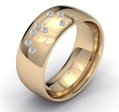 "Say ""I do"" with this unique Wedding Ring.  Set with Diamonds in the Braille Alphabet You Will Feel the words I DO as you run your finger over the diamonds"