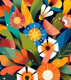 Illustration Vector, Plant Illustration, Coffee Illustration, Impression Textile, Animation Tutorial, Colorful Artwork, Colourful Art, Flat Design, Adobe Illustrator