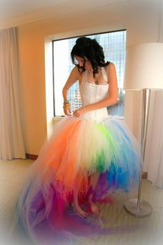 The Rainbow Bride's Gown by DragonWilloe.deviantart.com on @deviantART This is…