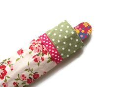 Emery Board Cover  Nail File Case  Pink Floral  by moodycowdesigns, £3.50