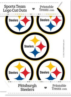 Small Pittsburgh Steelers Logo Cut Outs From PrintableTreats