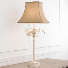 Vintage White Palm Tree Lamp