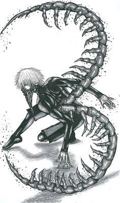 Kaneki Ken_Centipede by Slenderhand || Tokyo Ghoul
