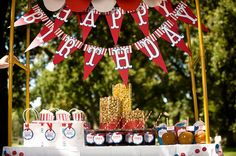 Carnival Bunting Banner by EmbellishedPaper on Etsy, $25.00 - for Elie's party?