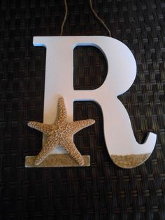 Wooden Letter  Starfish Decor  Beach House Decor  by LaurenAnnaLei, $24.00