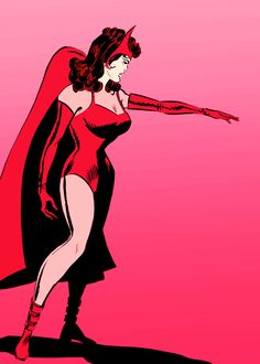 Scarlet Witch in Avengers Female Comic Characters, Marvel And Dc Characters, Marvel Comics, Marvel Dc, Scarlet Witch Marvel, License Plate Art, Marvel Women, Graphic Artwork, Comic Art
