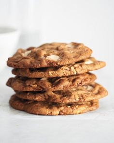 Giant White-Chocolate Pecan Cookies Recipe
