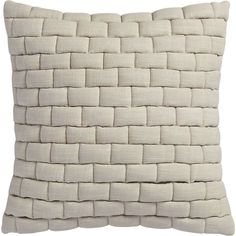"mason quilted oat 18"" pillow  