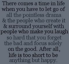 Amen!! Made the decision to cut the 2 bad people in my life out completely and it is amazing the weight off my shoulders and the happiness that I truly felt today!