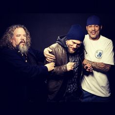 mark boone - charlie hunnam - david labrava    Like, repin and share.. and follow me! :)