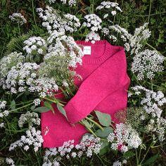 Snowdrop Sweater in tyrian rose #nievaknitwear #lambswool #nordic #knitwear