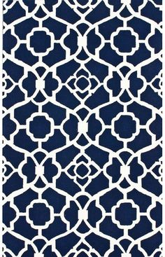 Navy Patterned Rug $59! 80% off of it's original price.