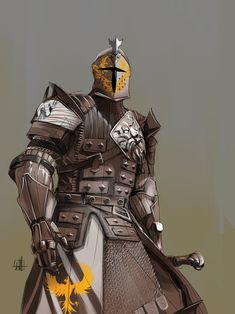 Empirical wardens they guard the entire homeland border meaning all other castles city's and small towns on the mainland of the empire For Honor Characters, Dnd Characters, Fantasy Characters, Fantasy Character Design, Character Concept, Character Art, Armadura Medieval, Medieval Armor, Medieval Fantasy