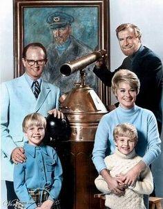 The Ghost and Mrs. Muir  -  Edward Mulhare (ghost of Capt. Daniel Gregg)...Hope Lange (writer, Carolyn Muir)...Charles Nelson Reily (Claymore Gregg)...Rita Shaw (Martha Grant)...Kellie Flanagan (Candy Muir)...Harlen Carraher (Jonathan Muir)...Scruffy(family's wire fox terrier)  -  NBC & ABC  -  1968 -1970