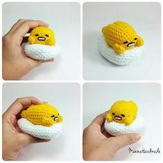 #Gudetama #sanrio #sanx #crochetcrafts. #crochet #amigurumi #amigurumidoll. #amigurumis #etsysellersofinstagram. #etsy #etsyshop. #etsyseller #etsyfinds #muninahandmade