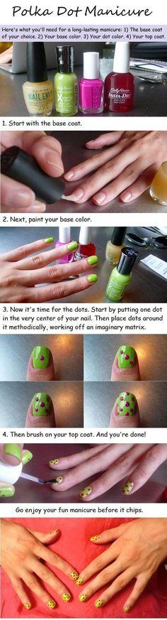 nail art - nail design - The Polka-dot manicure tutorial 2 - #nail   #nailart