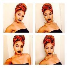 fashion, style, head wrap, turban, black girl, black womens inspiration