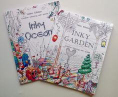 Pauline Barclay : Inky Ocean, Inky Garden to bring the artist out in you!