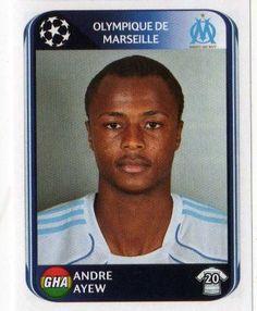 MARSEILLE - Andre Ayew 375 PANINI UEFA Champions League 2010-2011 Football Sticker