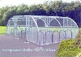 5. Compound Shelter for 60 Bikes - Code:PET-MC60