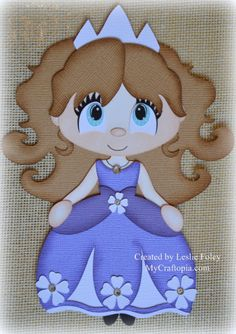 Disney Princess Sofia Premade Scrapbooking by MyCraftopia on Etsy