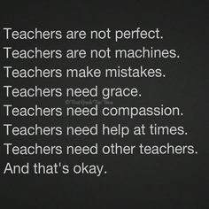 And also students. It is such a HUMAN job.