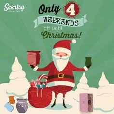 4 weekends until Christmas Scentsy flyer #scentsbykris