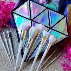 BESTOPE Makeup Brushes 8 Pieces Makeup Brush Set Professional Face Eyeliner Blush Contour Foundation Cosmetic Brushes for Powder Liquid Cream - Cute Makeup Guide Eye Makeup Brushes, Makeup Brush Set, Skin Makeup, Beauty Makeup, Makeup Unicorn Brushes, Makeup Geek, Clean Makeup, Hair Beauty, Mascara Hacks