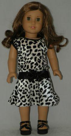 "Cheetah print dress #2 fits 18 "" dolls & american girl Lanie Julie Caroline Mia"