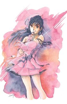 DYRL Minmay by Haruhiko Mikimoto.  As cute as she can be.