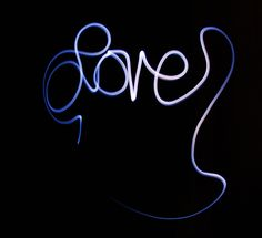 Typographic light painting. Cursive seems easier, but the light-graffiti style isn't what I'm going for.