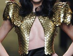 gold scales vest
