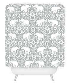 Look at this #zulilyfind! 'Elephant Damask Paloma' Shower Curtain #zulilyfinds