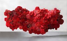 CEILING-What's up! trouvaillesdujour: The Textile Sculptures or Fabric Art of Emilie Faif
