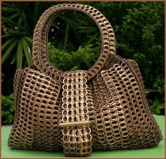 purse made of pop tops