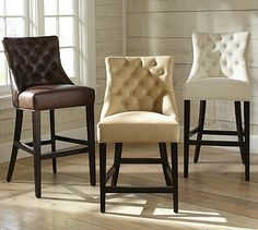 Hayes Tufted Barstool - bar height, for breakfast bar
