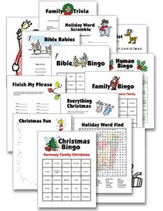 Printable Christmas Party Games and Free Christmas Holiday ...