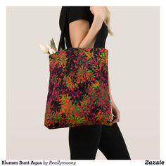 Blumen Bunt Aqua Aqua, Designs, Bunt, Tote Bag, Fashion, Artworks, Nice Asses, Moda, Water