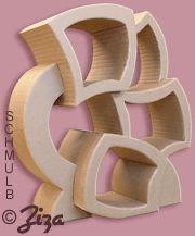 Etagère carton fabriquée en stage http://schmulb.com/